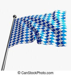 bavaria flag - image 3d of bavaria flag on white background