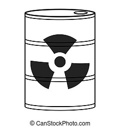 toxic waste icon - flat design toxic waste icon vector...
