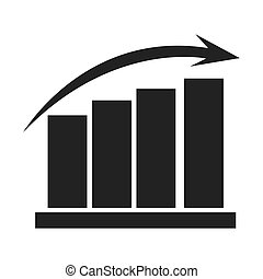graph chart icon - flat design graph chart icon vector...
