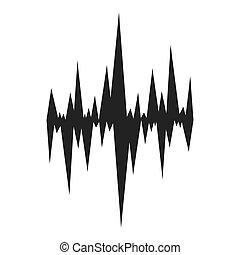 music soundwave icon - flat design music soundwave icon...