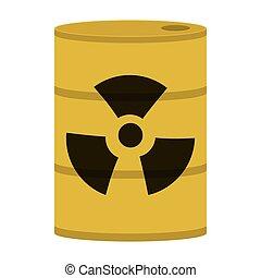 toxic waste icon - flat design toxic waste icon vector...
