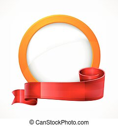 Circle frame with ribbon