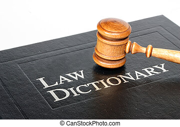 Law Dictionary and Gavel