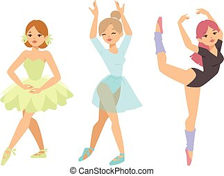 Ballerina dancer vector girl - Silhouette of female modern...