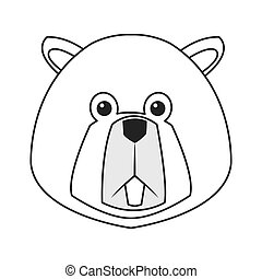 single beaver icon - flat design single beaver icon vector...