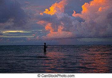 fiskare,  ocean