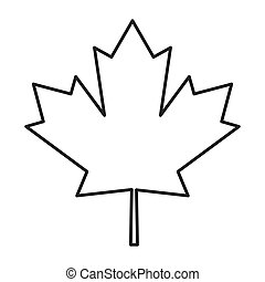 canada flag maple leaf icon - flat design canada flag maple...
