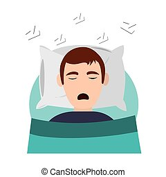 person sleeping in bed icon