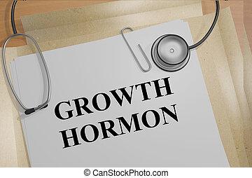 Crecimiento, hormona, -, médico, concepto