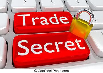 Trade Secret concept - 3D illustration of computer keyboard...