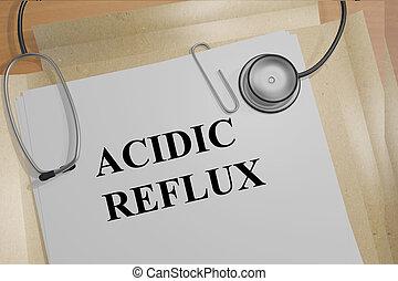 acide, reflux, -, Monde Médical, concept
