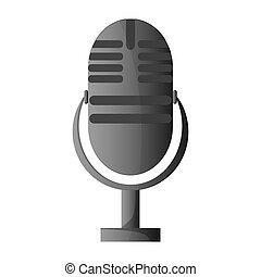classic microphone icon - flat design classic microphone...