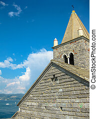 Chiesa di San Pietro Portovenere - Close up of the famous...