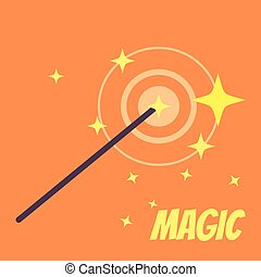 Magic wand Vector flat cartoon illustration icon