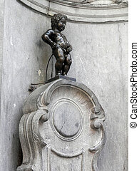 Manneken Pis sculpture - Manneken Pis is a small bronze...