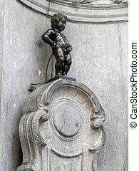 Manneken Pis sculpture - Manneken Pis is a small bronze...