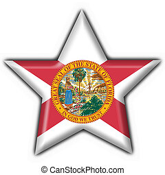 Florida (USA State) button flag star shape - 3d made