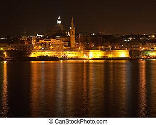 Valetta in night, Malta