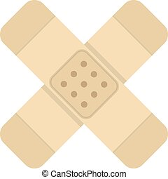 simple medical plaster icon