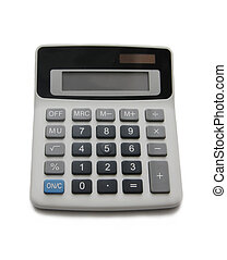 Isolated calculator on a white background
