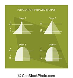 The Four Stage of Population Pyramids Charts - Population...