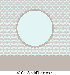 Vintage Frame on Retro Background Design