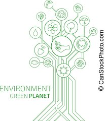 Ecology Infographic. Environment, Green Planet