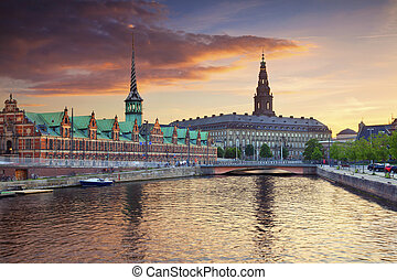 Copenhagen - Image of Copenhagen, Denmark during beautiful...