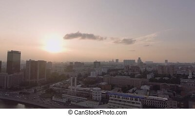 Hotel Ukraine and embankment - Aerial Photo Hotel Ukraina in...