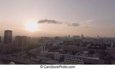 Hotel Ukraine and embankment - Aerial Photo Hotel Ukraina in...