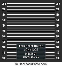 Police mugshot background - Police mugshot. Police lineup on...