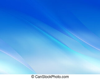 Abstract blue background - Abstract blue curved motion...