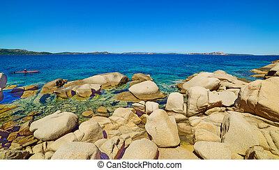 big rocks in Costa Smeralda, Italy