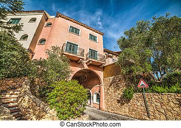 elegant buildings in Costa Smeralda, Sardinia