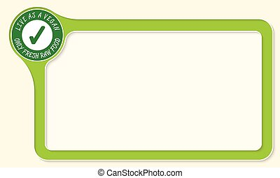 Vector frame for your text and green check box