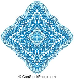 Beautiful blue mandala. Vector illustration isolated on...
