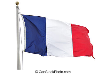 French Flag - The Flag of France Isolated on a White...