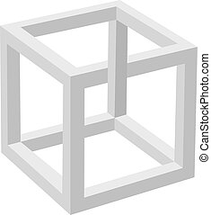 Impossible object - Illustration of an object that is...