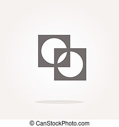 Apps icon. abstract sign on web button isolated on white . Vector illustration