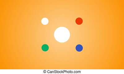 Abstract shape animated. Video presentation. Colorful...