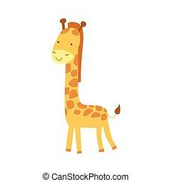 Giraffe Stylized Childish Drawing