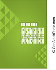Green background for brochure or cover