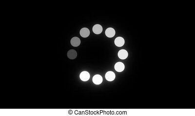 Circle Loading Animation - Loading Circle. Twelve animated...