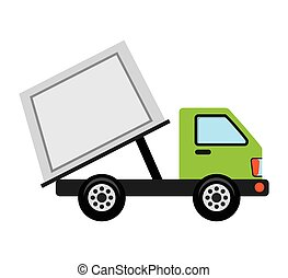 truck vehicle recycle garbage icon
