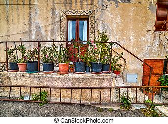 picturesque corner in San Pantaleo, Sardinia