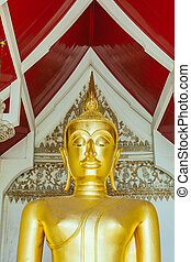 Thai gold buddha statue