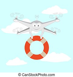 Drone. Rescue on the water