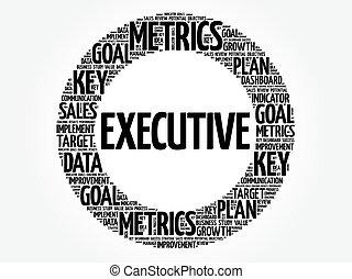 Executive circle word cloud