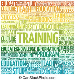 TRAINING word cloud, education concept