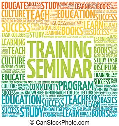 Training Seminar word cloud, education concept